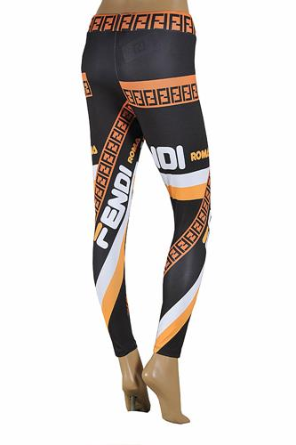 FENDI logo print leggings 32
