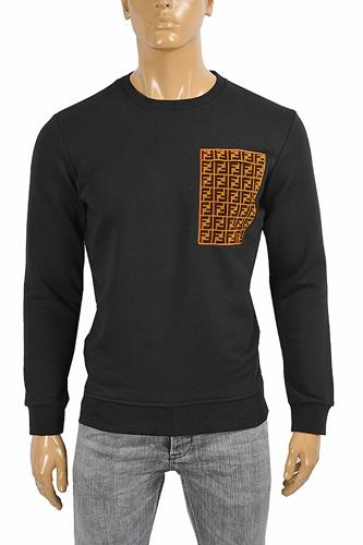 FENDI men's cotton sweatshirt with FF front print 36