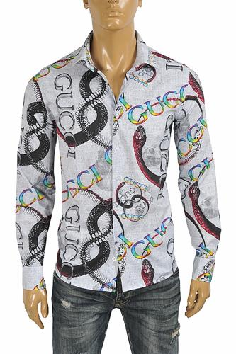 GUCCI Men's Dress shirt with logo print 394