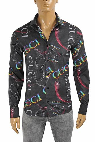 GUCCI Men's Dress shirt with logo print 395
