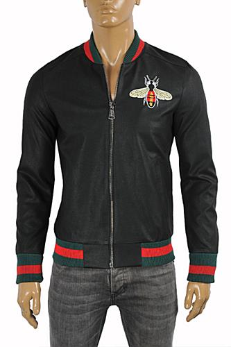 GUCCI Faux Leather Jacket With Bee Patch #154