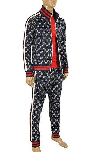 GUCCI men's zip up GG jogging suit 172