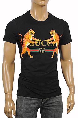 a0704488 Mens Designer Clothes | GUCCI Men's Tiger print jersey T-shirt #219 View 1
