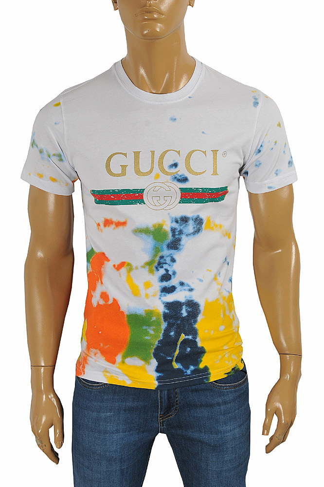 GUCCI cotton T-shirt with multicolor print #232