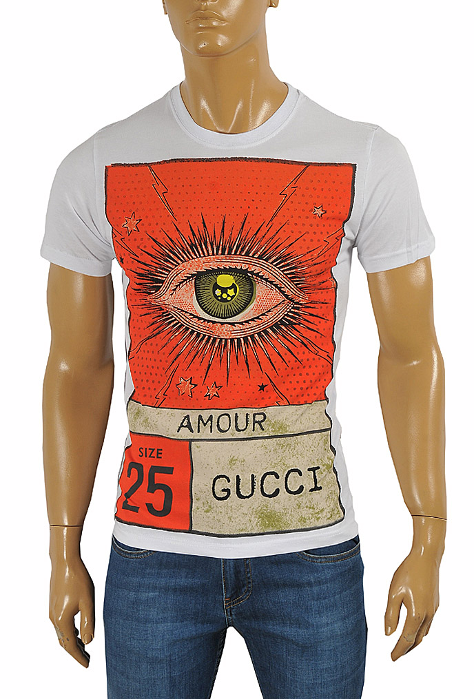 GUCCI cotton T-shirt with print #234