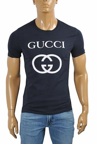 GUCCI cotton T-shirt with front print #252