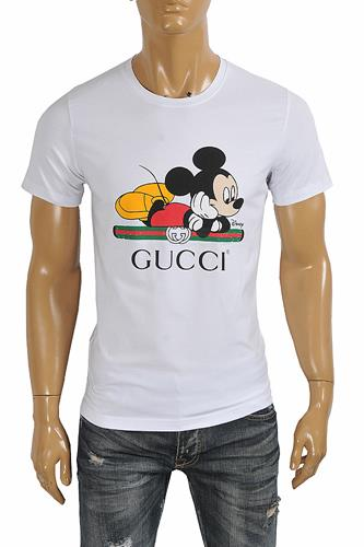 DISNEY x GUCCI men's T-shirt with front vintage logo 273