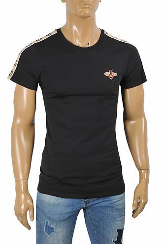 GUCCI Men's cotton t-shirt with Bee appliqué 279