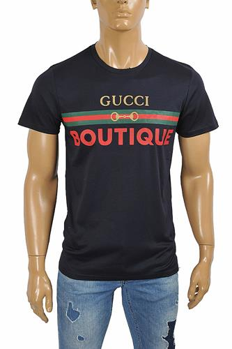 GUCCI Men's Boutique print T-shirt 298