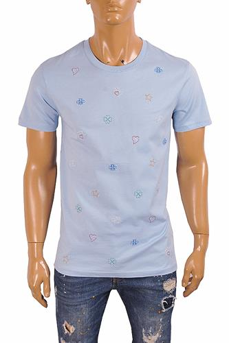 GUCCI cotton t-shirt with symbols embroidery 302