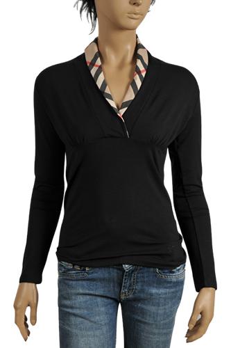 Burberry Black Long Sleeve Shirt