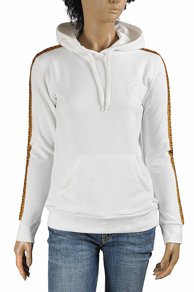 Womens Designer Clothes | FENDI women's cotton hoodie with logo embroidery 39