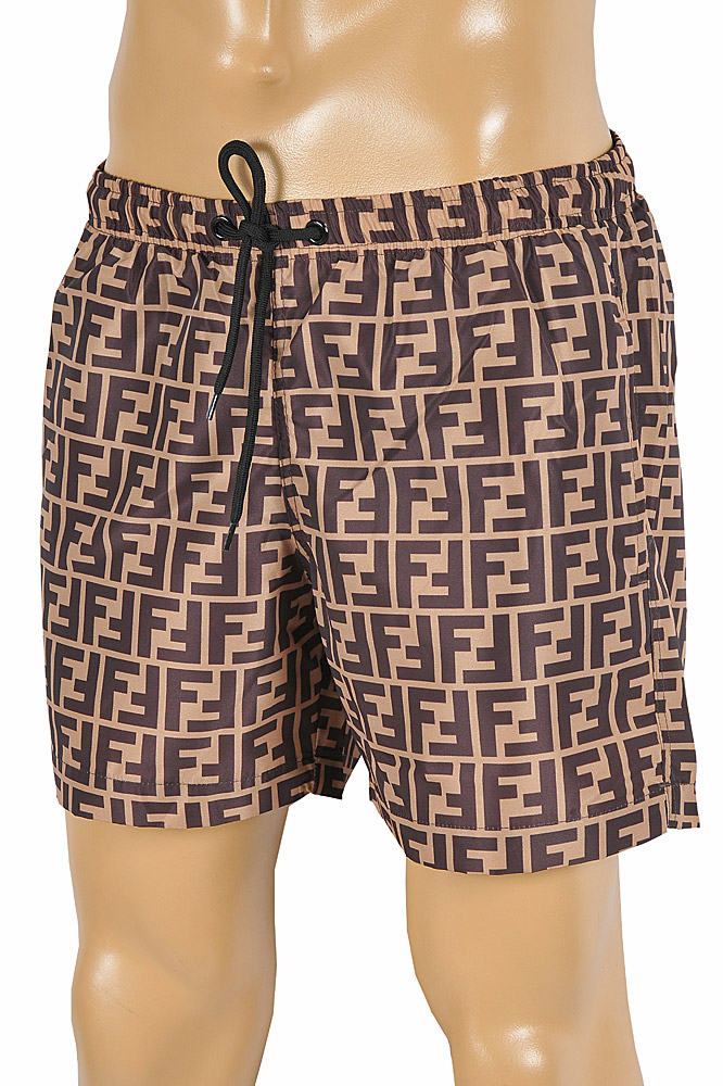 Mens Designer Clothes | FENDI FF Print Swim Shorts for Men 93