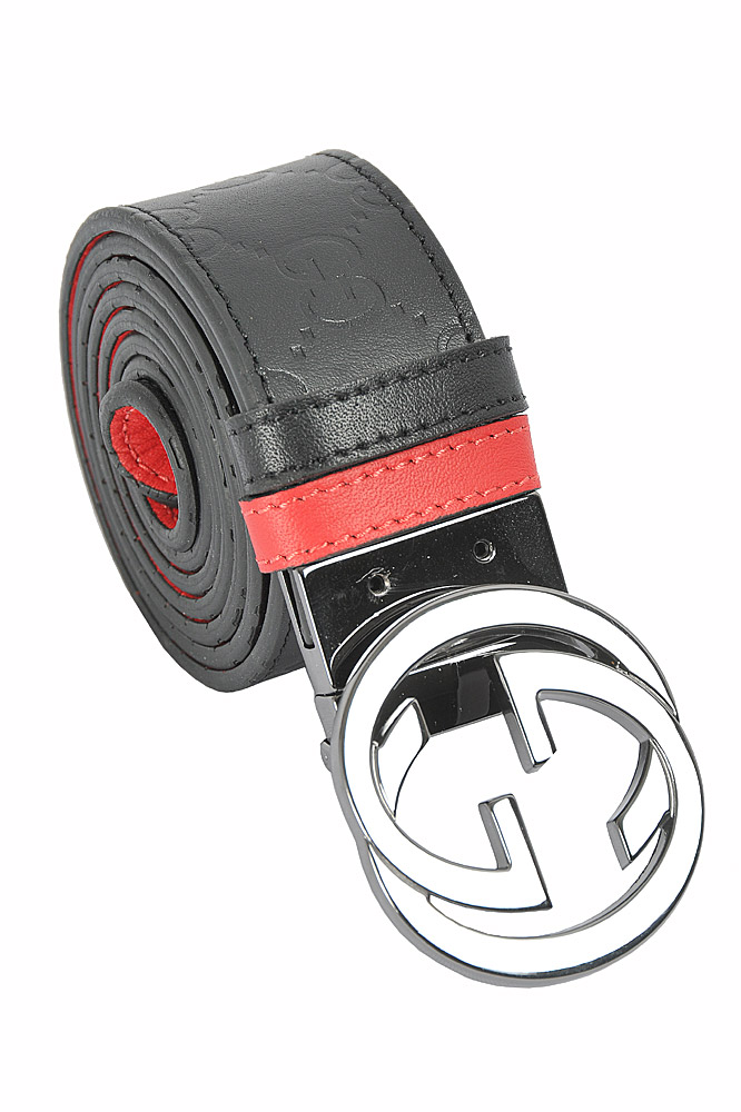Mens Designer Clothes | GUCCI GG men's reversible leather belt 64