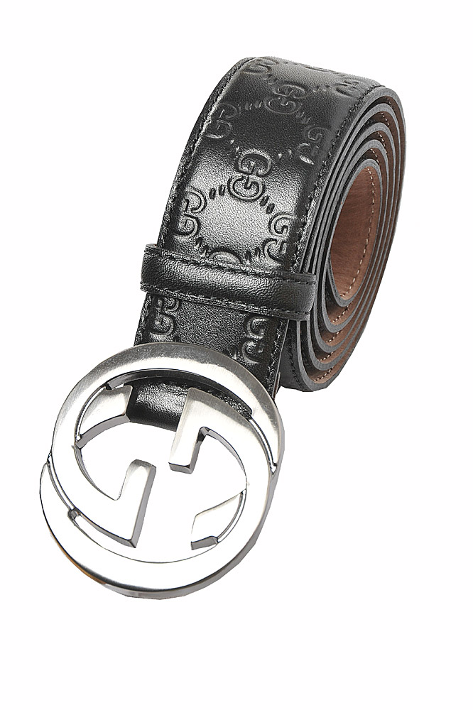 Mens Designer Clothes | GUCCI Double G Buckle Belt In Black 56