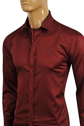 Mens Designer Clothes Gucci Men S Burgundy Red Dress Shirt 328