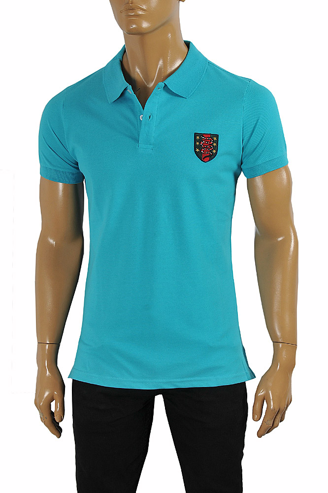 Mens Designer Clothes | GUCCI Men's cotton polo with Kingsnake embroidery patch 390