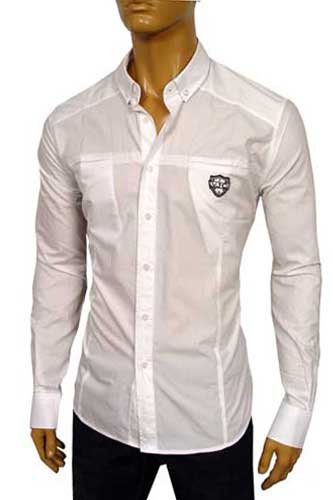 Mens Designer Clothes | VERSACE Men's Fitted Dress Shirt #121