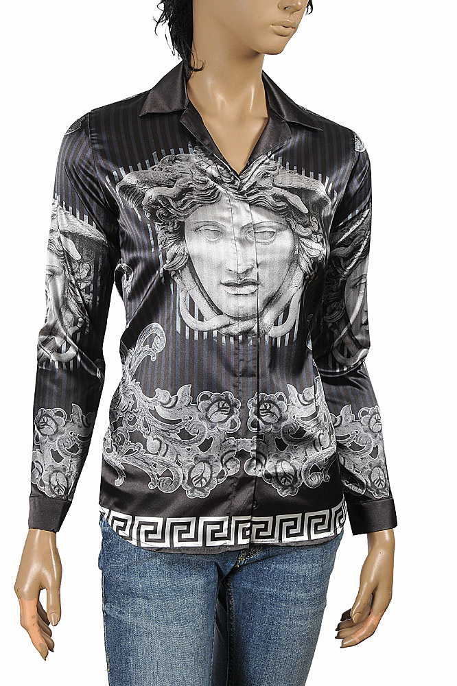 Womens Designer Clothes | VERSACE Ladies Dress Shirt/Blouse 181