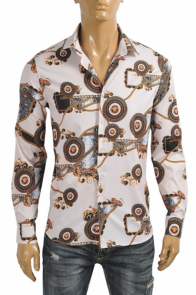 Mens Designer Clothes | VERSACE Men's Dress Shirt 187