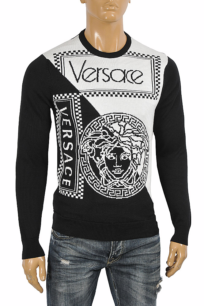 Mens Designer Clothes | VERSACE men's round neck sweater Top 27