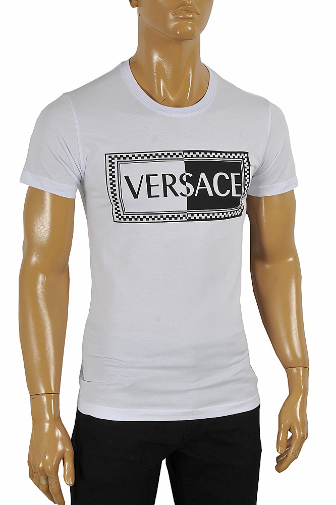 Mens Designer Clothes | VERSACE men's cotton t-shirt with print 111