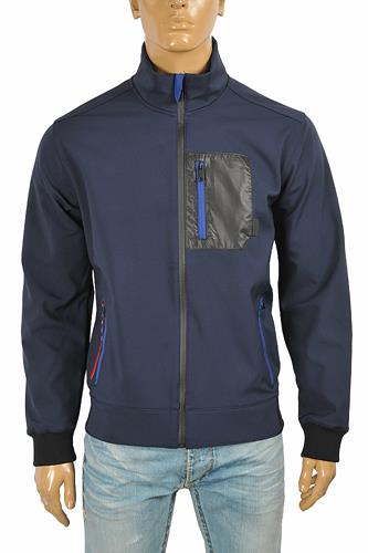 PRADA men's fool-zip jacket in navy blue 41