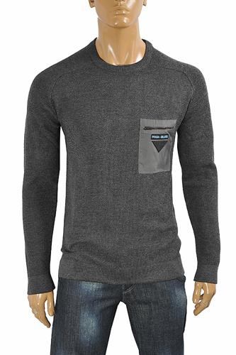 PRADA men's round neck knit sweater 15