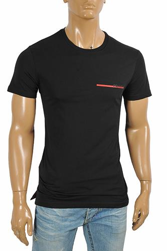 PRADA Men's cotton t-shirt with front logo appliqué 109