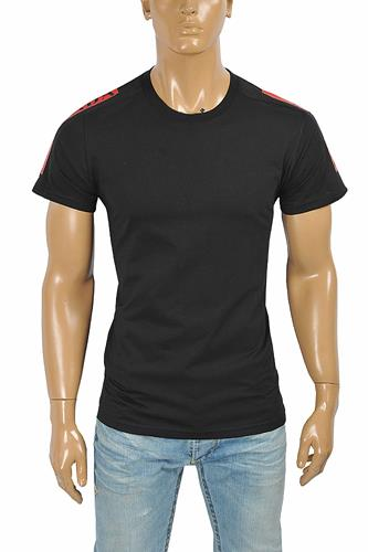 PRADA Men's t-shirt with shoulders logo appliqué 113