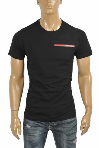 PRADA Men's t-shirt with front logo appliqué 115