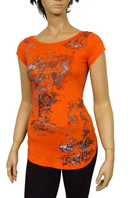 TodayFashion Ladies Open Back Short Sleeve Top #26