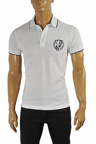 VERSACE JEANS men's polo shirt with front embroidery #173