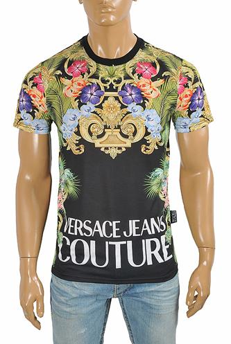 VERSACE Men's Multicolor Print Tee 127