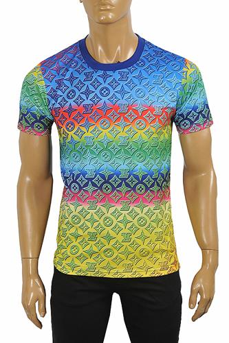 LOUIS VUITTON men's multicolored monogram t-shirt 7